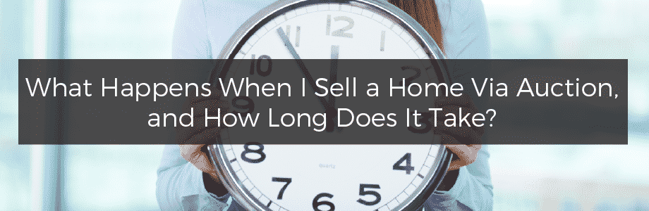 How long does it take to sell a home at auction?